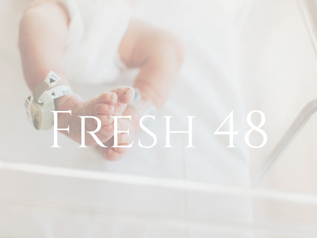 Fresh 48 button of baby feet for Molly Watson Photography site.