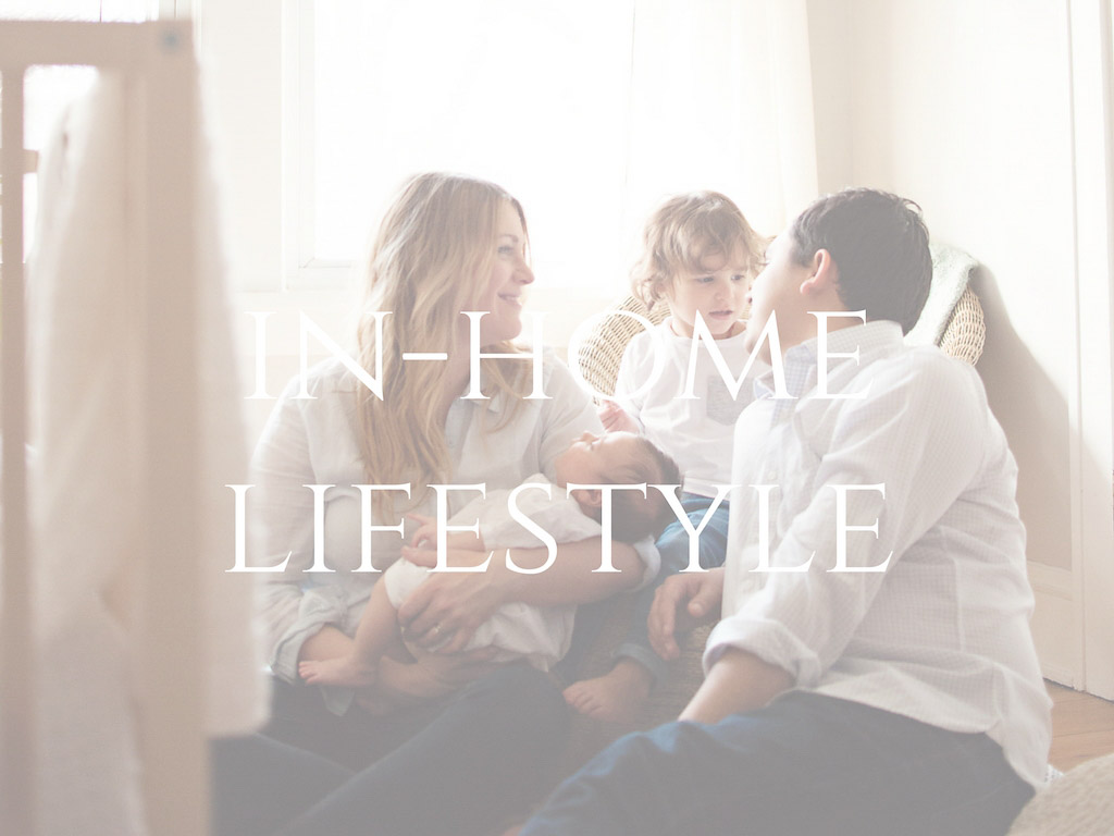 In-home lifestyle button with family of four for Molly Watson Photography site.