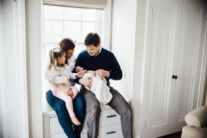 Newborn + Family Home Lifestyle Session in Rocky River, OH