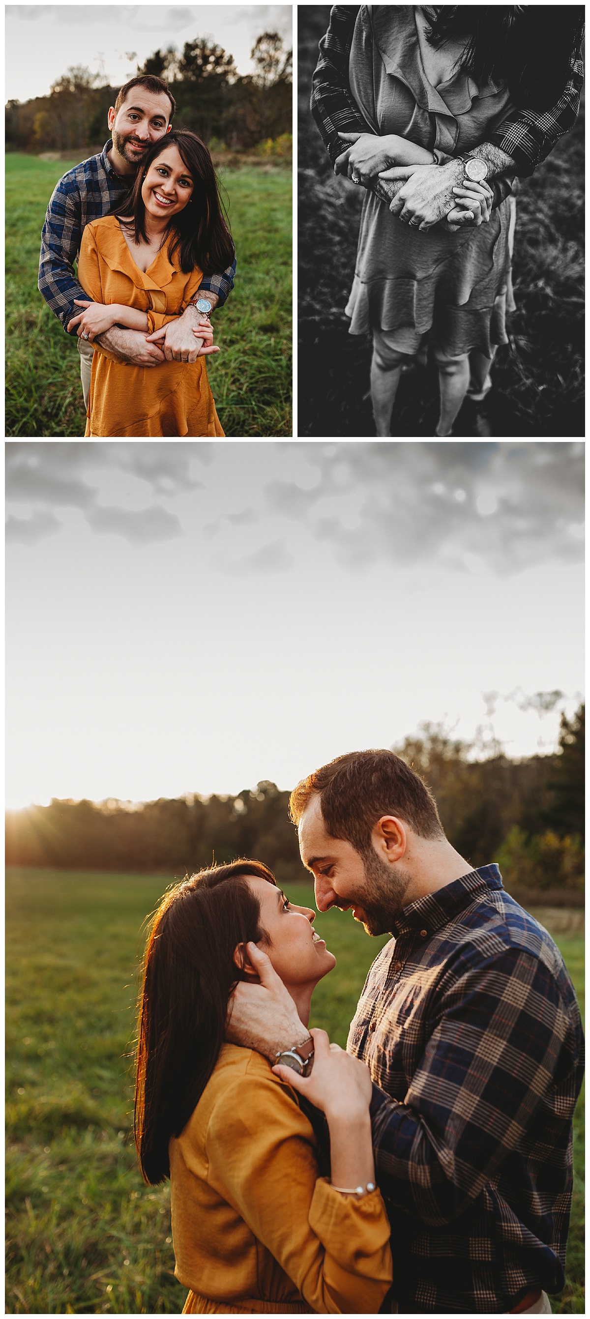 Couple embracing at outdoor family photo session in Cleveland Metroparks.