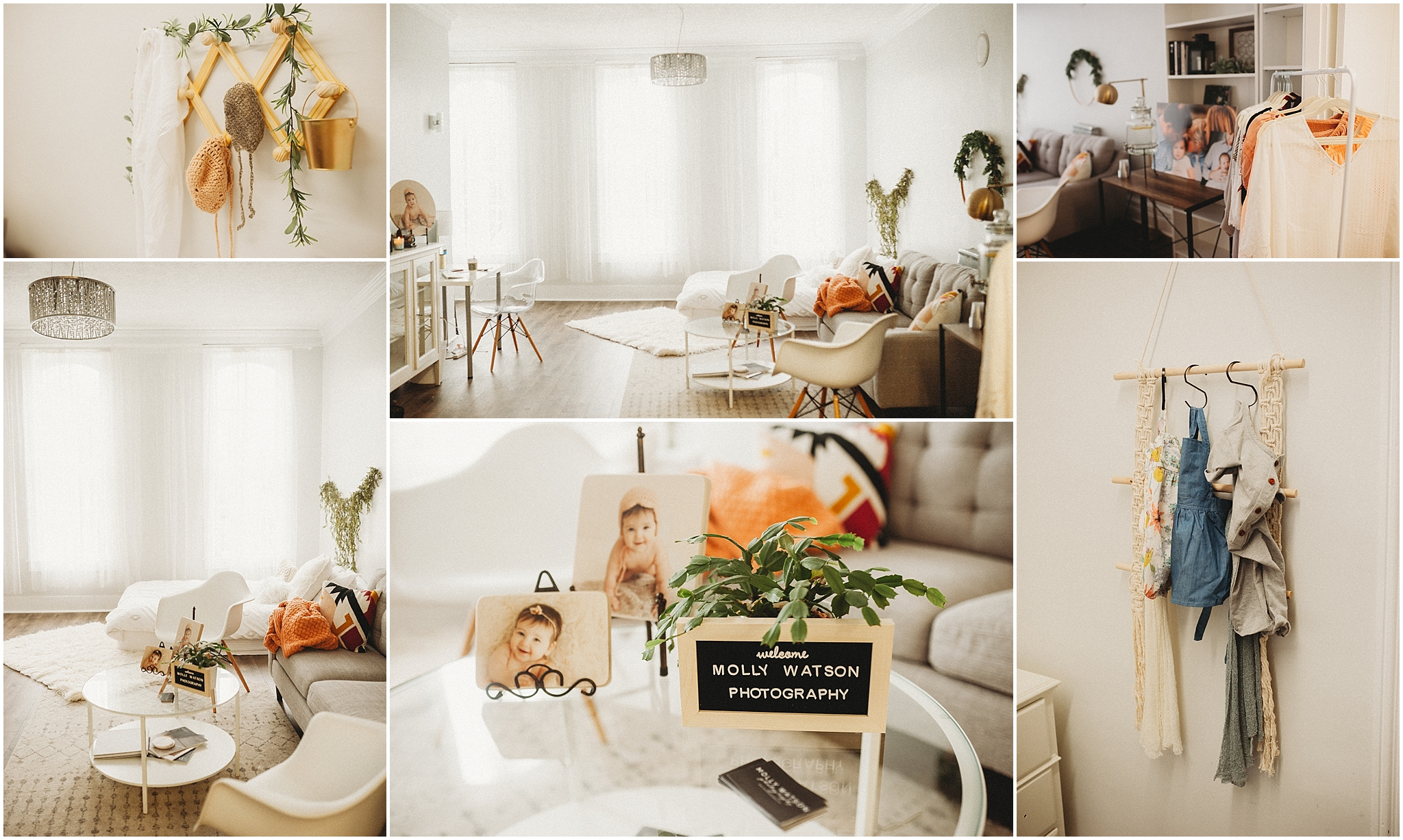 Collage of Molly Watson Photography studio in Medina, OH