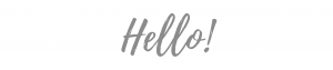 Hello banner graphic